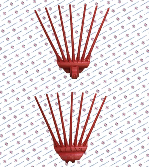 Immagine di Base rastrello costampato rossa - 1 PZ