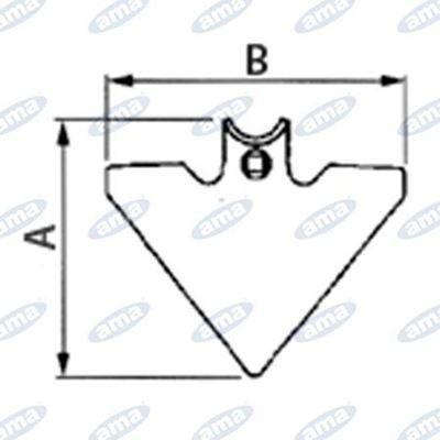 Immagine di Vomerina triangolare 105x4 mm