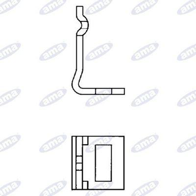 Immagine di Staffa monolama per molla flex H=27 50X15