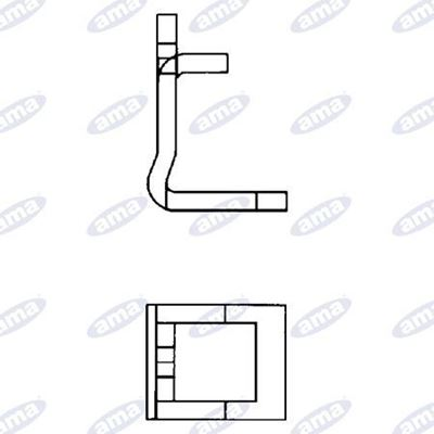 Immagine di Staffa per molla 50x15 doppia
