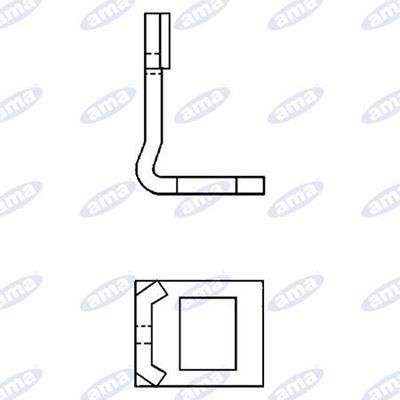 Immagine di Staffa monolama per molla flex 45x12