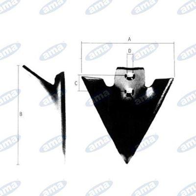 Immagine di Vomere per molla quadra 215X230