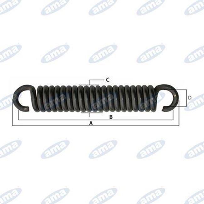Immagine di Molla per tiller con gancio aperto L= 355 mm