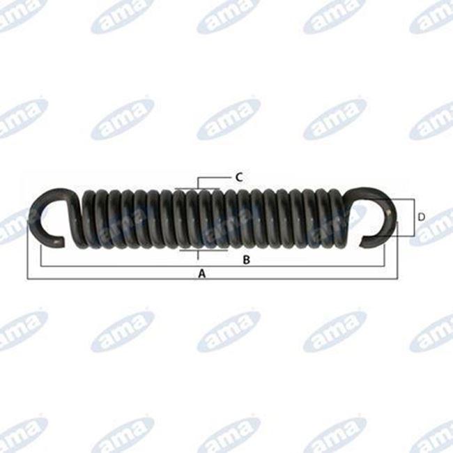 Immagine di Molla per tiller con gancio aperto L= 357 mm