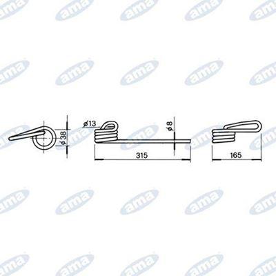 Immagine di Molla per erpicetto anteriore DX adattabile Marzia