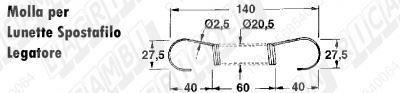 Immagine di MOLLA a TRAZIONE L=140 - ø=20,5 - Filo ø 2,5