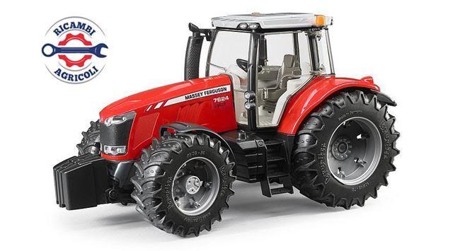 Immagine di Modellino trattore Massey Ferguson 7600 in scala 1:16 senza benna