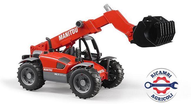 Immagine di Modellino caricatrice Manitou MLT 633 con braccio meccanico