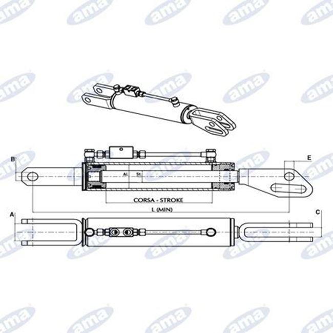 Immagine di Braccio laterale idraulico 080X040X0140