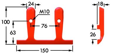 Immagine di Guidalama Inferiore Centrale Doppio per Dente Smontabile COMPATIBILE