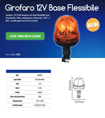 Immagine di Girofaro 12V Base Flessibile